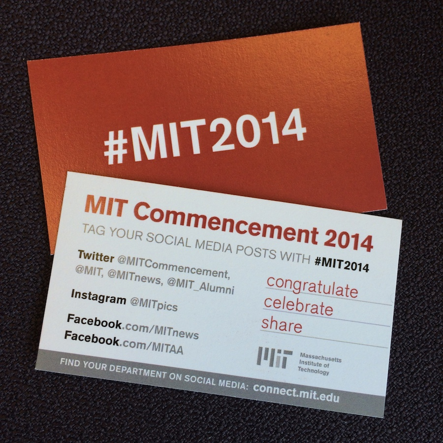 MIT Commencement cards
