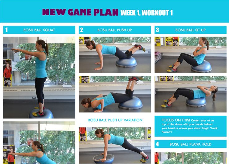 New Game Plan workout by MIT Recreation on Pinterest